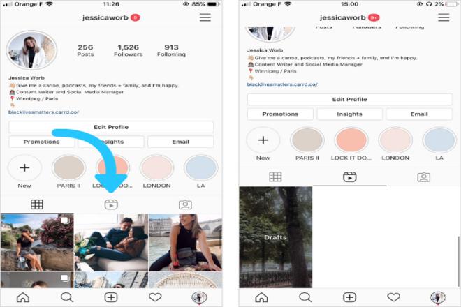 Reels Option On Instagram Profile